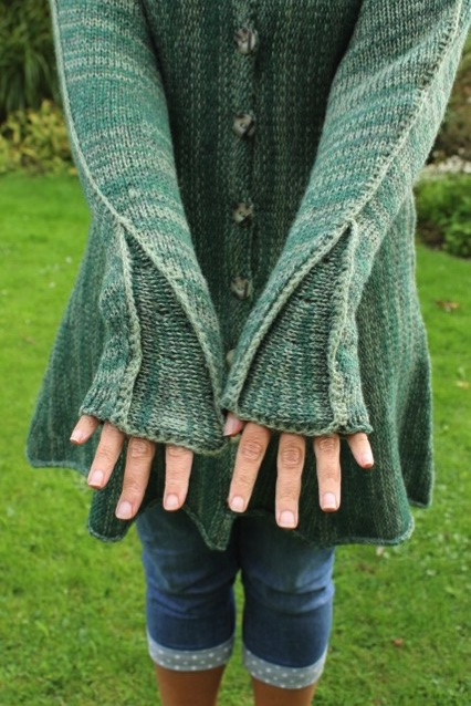 green top in pure wool from Spinning Earth, Kent