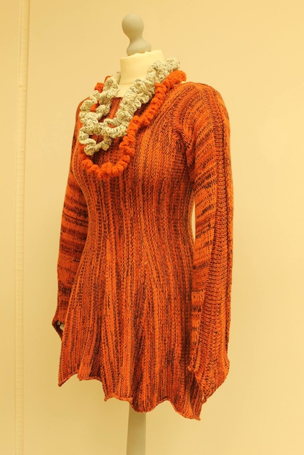 orange top in pure wool from Spinning Earth